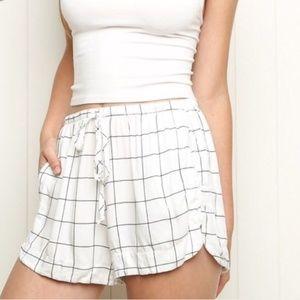 Brandy Melville Grid Drawstring Shorts